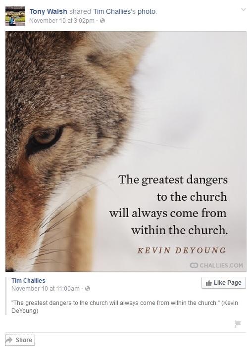 Tony wolf post